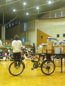 自転車と渡辺