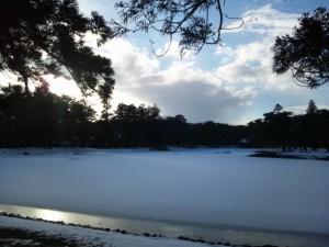 雪の毛越寺…美
